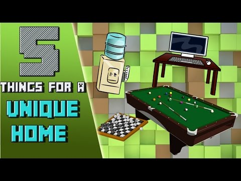 Minecraft 5 Cool Things To Make Your Home Unique YouTube