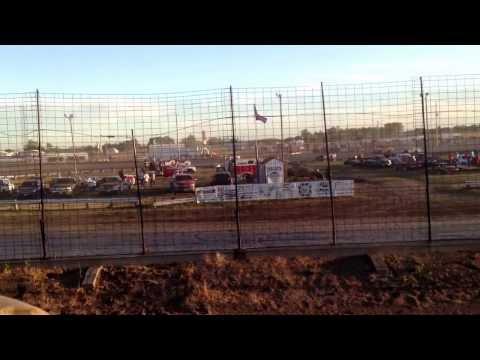 Travis Saurer passing clinic at Sheyenne River Speedway.
