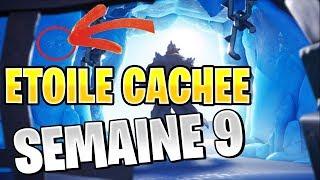 ÉTOILE DE COMBAT CACHÉE SEMAINE 9 SAISON 7 EMPLACEMENT FORTNITE BATTLE ROYALE