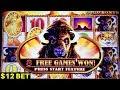Buffalo Gold Slot Machine - BIG WIN w/$12 Bet Bonus   Chasing Bonus on Wild Fury Slot Machine