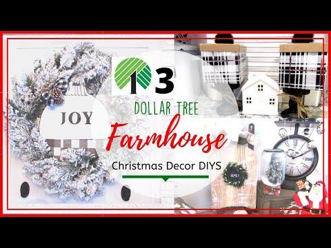 3 DOLLAR TREE Christmas DIYS  Buffalo Check  Modern Farmhouse Neutral Decor  COLLAB w/ Heidi Sonboul