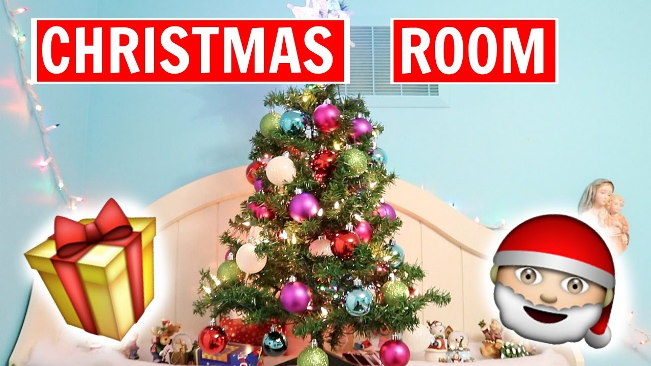 Decorating My Room For Christmas 2016 Youtube