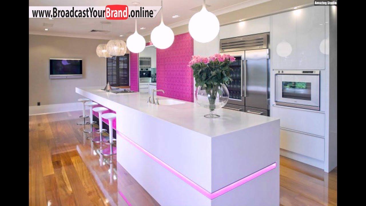 rosa elemente ideen für led küchen beleuchtung - youtube