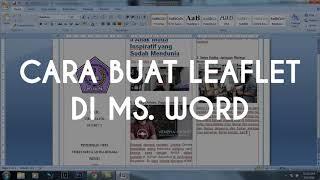 Video ini akan menjelaskan bagaimana cara membuat brosur dengan mudah pada aplikasi ms.word 2016 (Li.