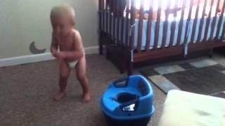Early potty training. Lol