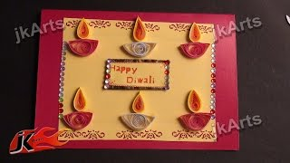 DIY Paper Quilling Greeting Card For Diwali JK Arts 335