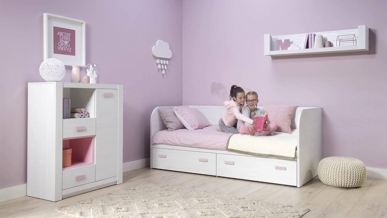 Niesamowite Meble Wójcik kolekcja Lilo - różowy pokój dziecięcy - YouTube HP17