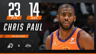Chris Paul drops DOUBLE-DOUBLE to guide Suns over Lakers‼️