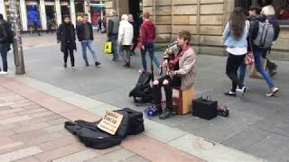 Coldplay - Adventure of a Lifetime - Busking in Glasgow Andrew Duncan Cover