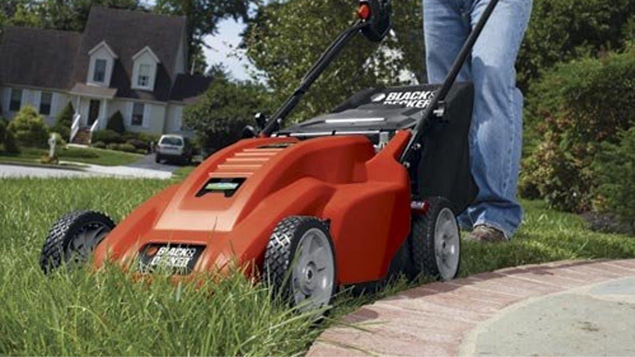 Black Amp Decker Cm1836 Cordless Electric Lawn Mower Youtube