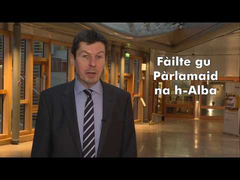 Scottish Parliament's Gaelic week 2016 with the Presiding Officer