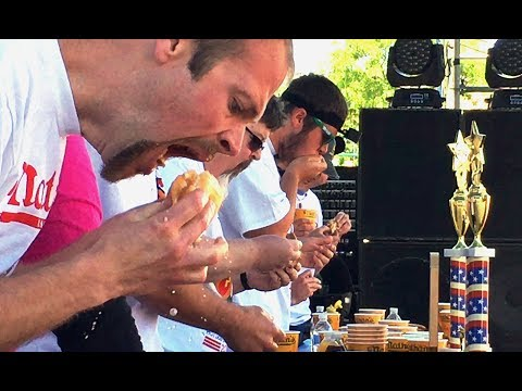 Taste of Syracuse: Who chased the most Nathan's hotdogs down? (video)