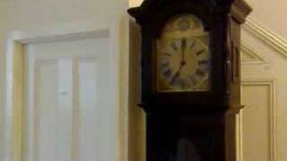 Mauthe Edwardian Westminster Chime Longcase Grandfather Clock Chiming
