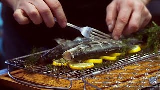 How to cook whole Sea Bass on a Weber Gas BBQ