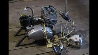 Снегоход на базе двигателя ИЖ Юпитер 3 1972 года выпуска! Серия 1.