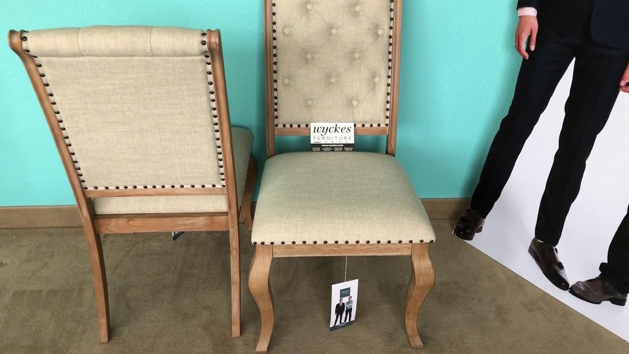 Scott Living Glen Cove 107732 Elegant Nailhead Trim Dining Chairs