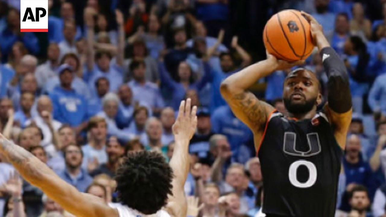 Miami stuns No. 9 UNC on Ja'Quan Newton's long buzzer-beater