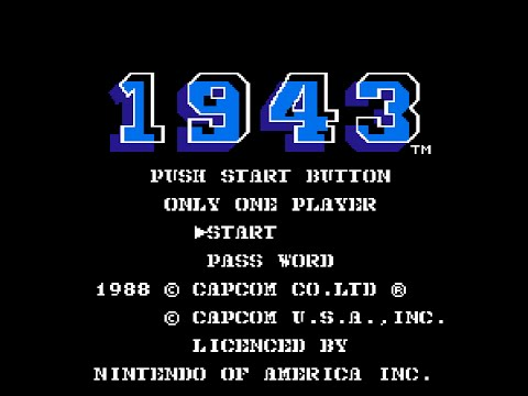 1943 The Battle of Midway NES Title Screen & Intro