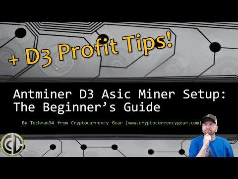 Antminer D3 Setup Guide for X11 Asic