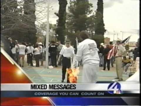 MEDIA COVERAGE Riot in Armory Park, Tucson Arizona, April 10, 2006