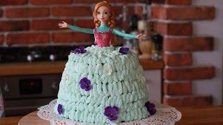 FROZEN Tort z krainy lodu Tort Anna jak zrobić tort ? Princess doll cake