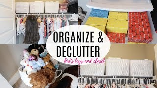 ORGANIZE AND DECLUTTER WITH ME 2018 // ORGANIZE KIDS CLOSET // TOY ORGANIZATION