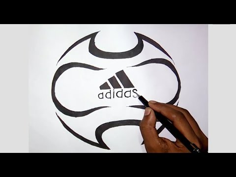 Football with Adidas logo drawing