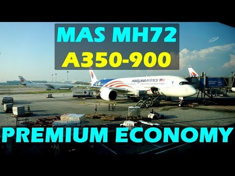 MH72 Kuala Lumpur to Hong Kong A350-900 First Experience Malaysia Airline #A359 #MAS