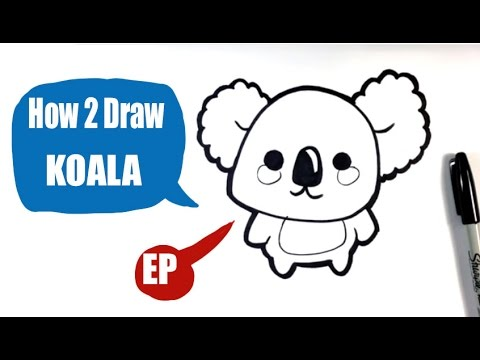How To Draw A Koala Easy Pictures To Draw Youtube