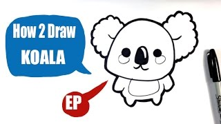 How to Draw a Koala - Easy Pictures to Draw