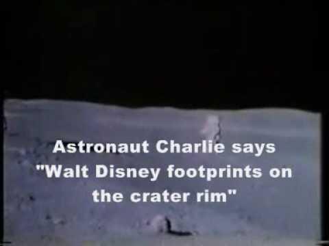 Moon Hoax Apollo 16 : Walt Disney Worker's Footprints Seen in the Nevada Fake Moon Bay