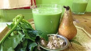 Tahini Pear Spinach Smoothie - Take 3