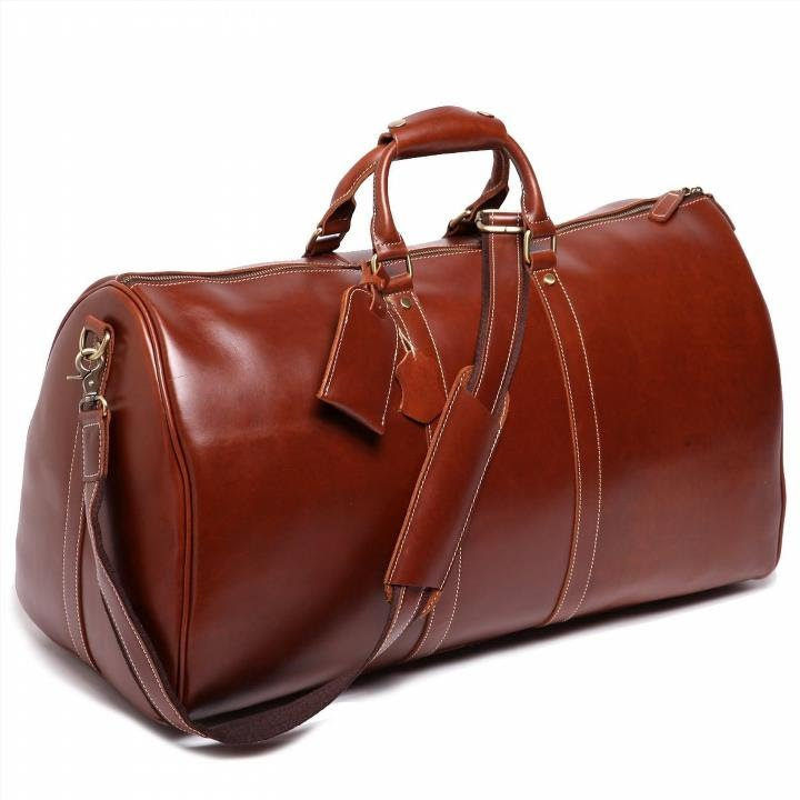 Leathario Mens Leather Weekend Travel Duffel Bags - YouTube