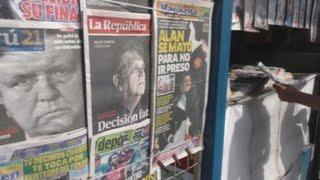 Prensa peruana sobrecogida por la tragedia de Alan García