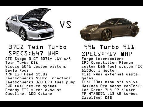Nissan 370z Twin Turtbo vs Porsche 996 Twin Turbo