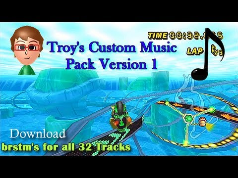 Mario Kart Wii - Troy's Custom Music Pack (ALL 32 Tracks - Download)