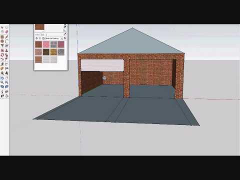 google sketchup building a small garage part 1 doovi