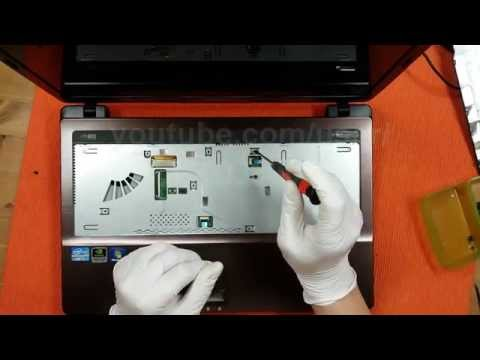 Repair Asus Laptop Disassembly A53 Series X53S K53SV A53S Fan Cleaning
