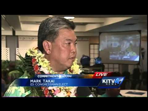 Mark Takai talks after winning Congressional seat