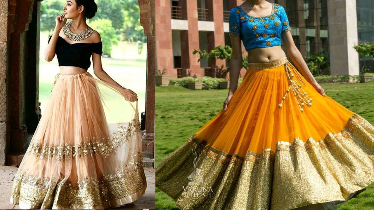 b3909ac944 Top 20 Net Lehenga Choli Designs/Light Weight Lehenga Designs/Lehenga Choli  Designs For Engagement