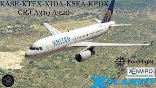 [X-Plane 11] KASE-KTEX-KIDA-KSEA-KPDX | ✈️CRJ A319 A320 ✈️| Hitting the slopes in Telluride!