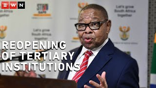 Minister of Higher Education, Science and Innovation, Dr Blade Nzimande held a briefing on plans for the reopening of universities and other tertiary institutions.    #Covid19news #HigherEducation #BladeNzimande