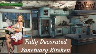 Fully Decorated Kitchens In Fallout 4 / Building with Junk