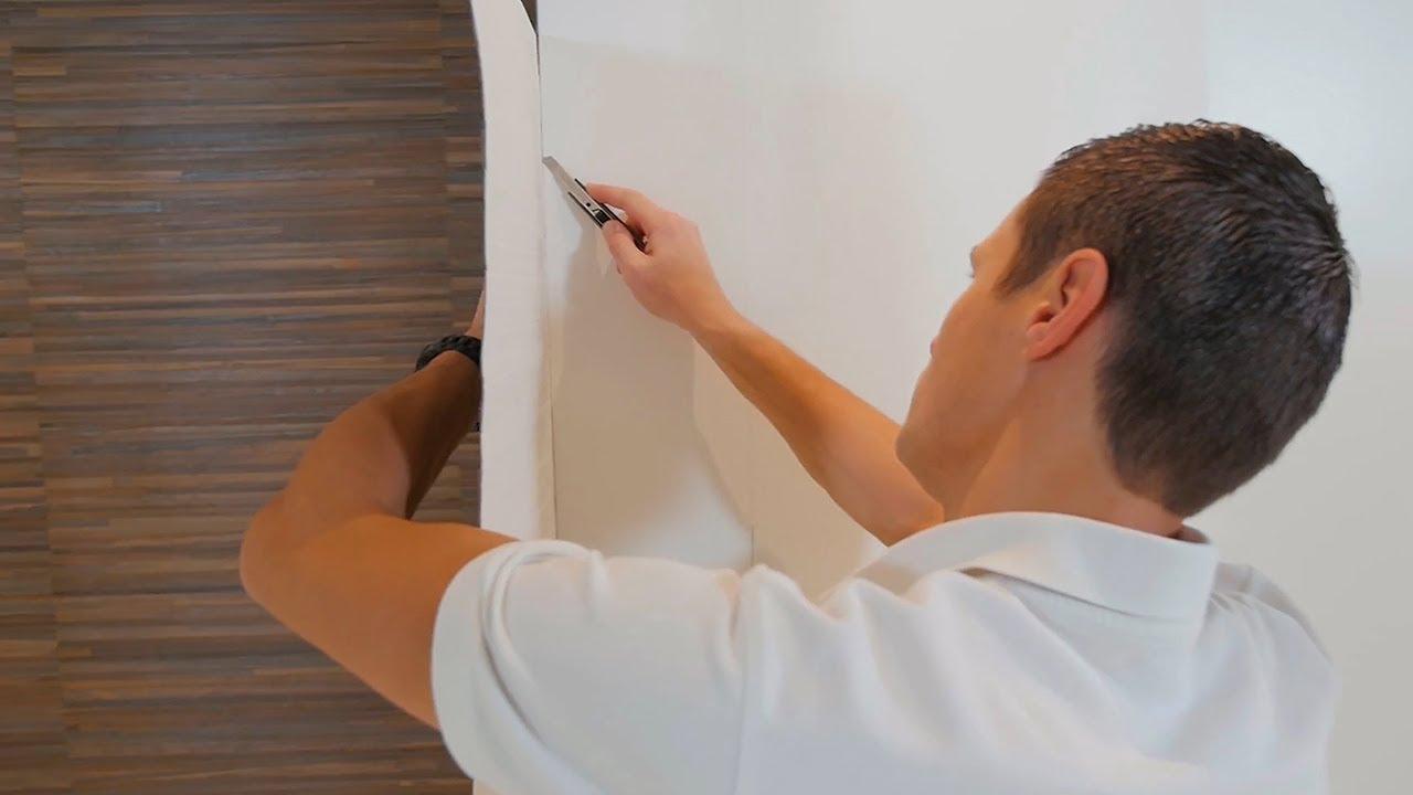 Poser du papier peint rigide angles ext rieurs youtube for Papier peint angle sortant