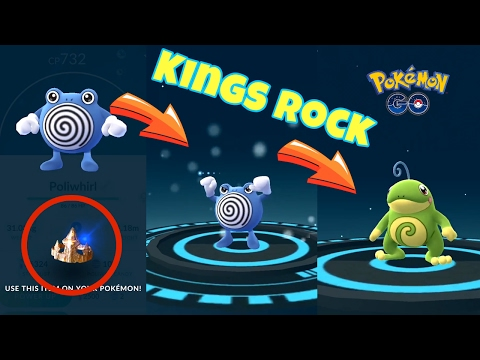 FINALLY!!! EVOLVING POLIWHIRL To POLITOED With KINGS ROCK Special Item POKEMON GO