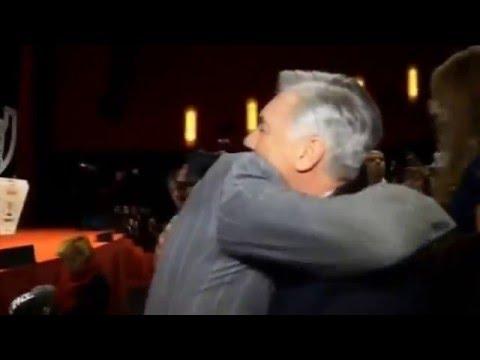 Warm hug between Cristiano Ronaldo & Carlo Ancelotti at Marca Awards gala