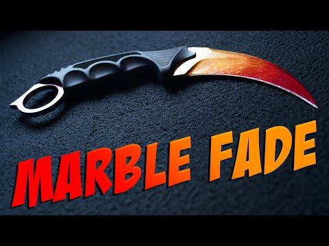 CS:GO Knife Painting: Karambit | Marble Fade