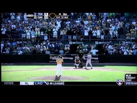Oakland Athletics clinch AL West October 3, 2012