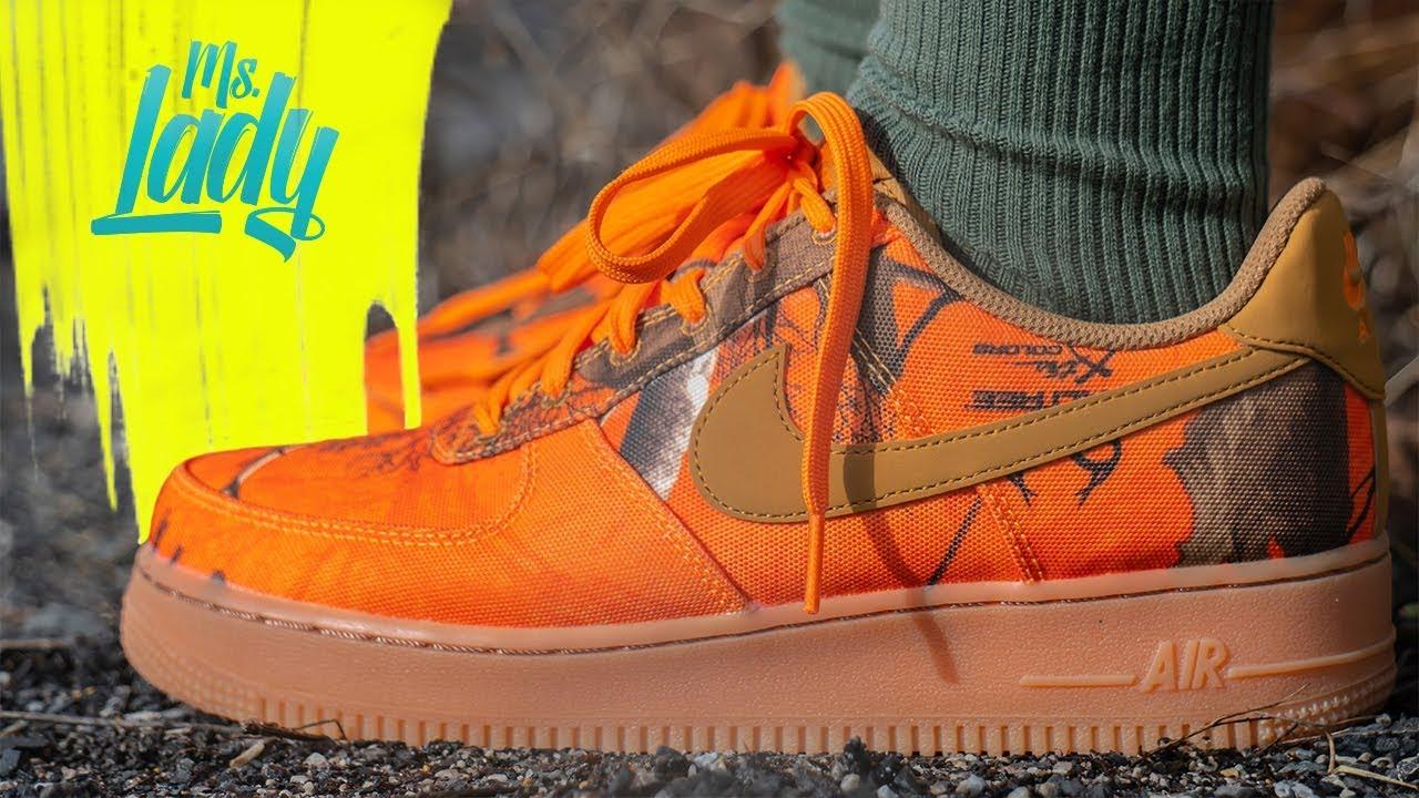 Nike Air Force 1 RealTree Camo Orange