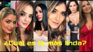 Las mujeres más lindas de la televisión colombiana